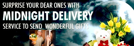 If You Wish To Have Your Gifts Delivered At Midnight Then Can Now Do That By Paying Little Extra Our Exclusive Delivery Services Are
