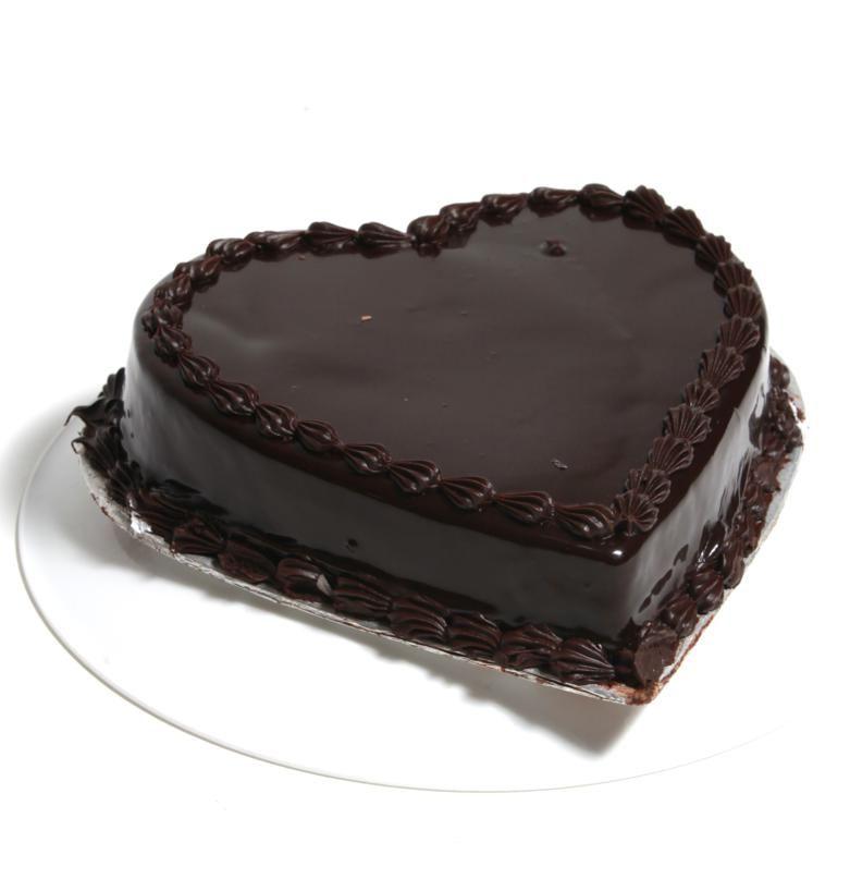 22 Lbs Heart Shape Chocolate Cake