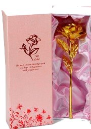 24 Karat Gold Plated Rose In Gift Box With Certificate No Re Value